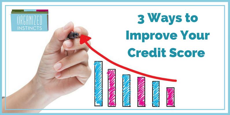 image Organized Instincts improve your credit score